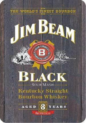 Placa Adesivada JIM BEAM 40-A x 28-C
